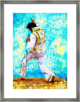 Elvis Live Framed Print