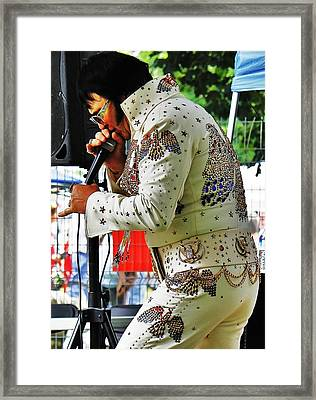 Framed Print featuring the photograph Elvis Lives... by Al Fritz