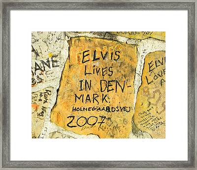 Framed Print featuring the photograph Elvis Lives In Denmark by Lizi Beard-Ward
