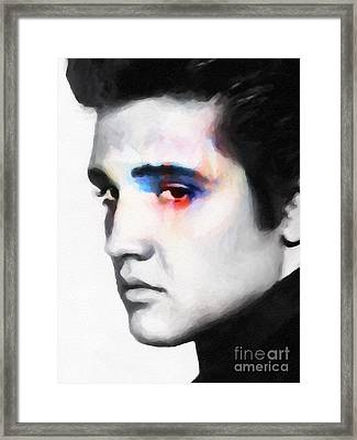 Elvis Framed Print by Lutz Baar