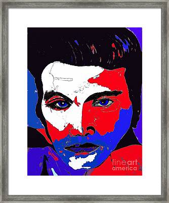 Elvis Made In The U S A Framed Print by Saundra Myles
