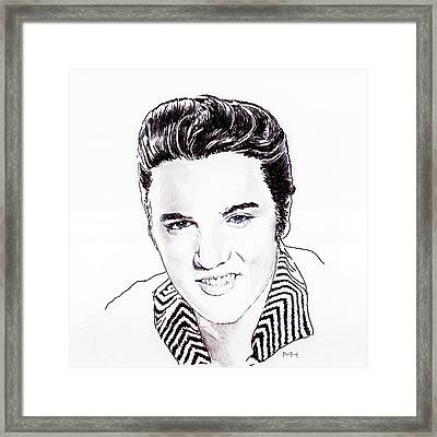 Elvis Framed Print by Martin Howard