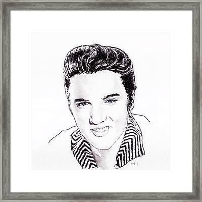 Elvis Framed Print by Martin Howard