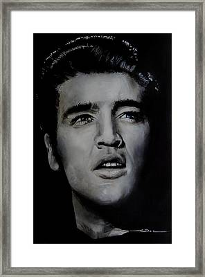 Framed Print featuring the painting Elvis- Mississippi Trucker by Eric Dee