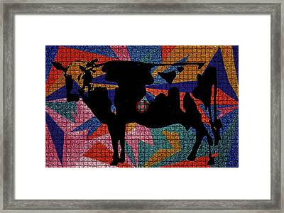 Elvis My Cow Framed Print by Robert Margetts
