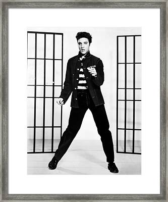 Elvis Framed Print by Georgia Fowler