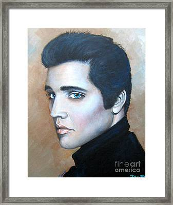 Framed Print featuring the painting Elvis by Patrice Torrillo