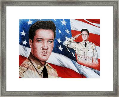 Elvis Patriot  Framed Print by Andrew Read