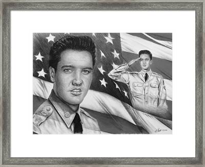 Elvis Patriot Bw Signed Framed Print