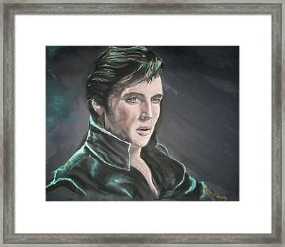 Framed Print featuring the mixed media Elvis by Peter Suhocke