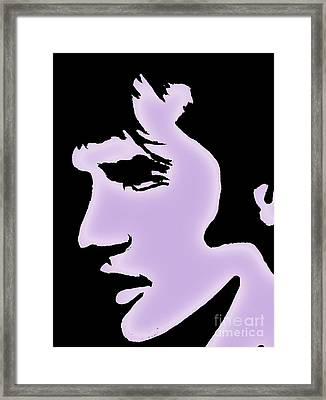 Elvis Pop Art Style Framed Print