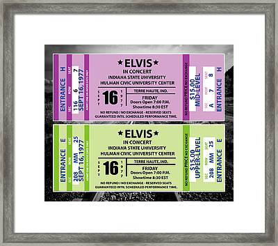 Framed Print featuring the digital art Elvis Presely Tickets by Marvin Blaine