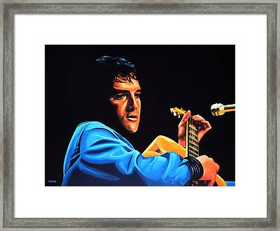 Elvis Presley 2 Painting Framed Print by Paul Meijering