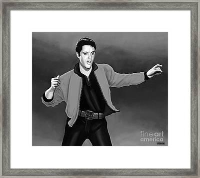 Elvis Presley 4 Framed Print by Meijering Manupix