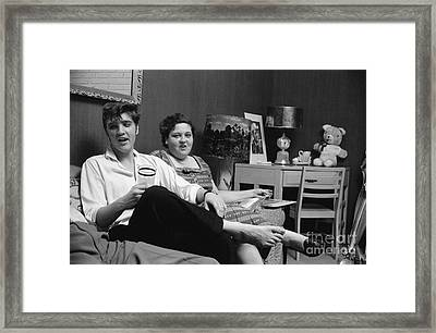 Elvis Presley And His Mother Gladys 1956 Framed Print by The Harrington Collection