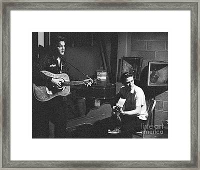 Elvis Presley And Scotty Moore 1956 Framed Print by The Harrington Collection