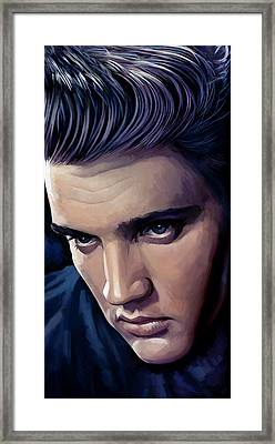 Elvis Presley Artwork 2 Framed Print by Sheraz A