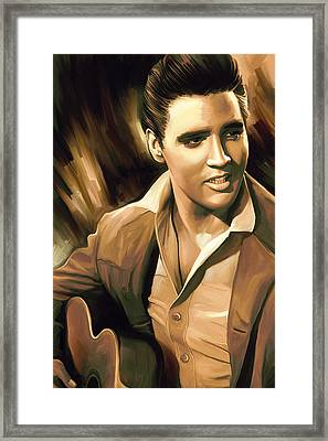 Elvis Presley Artwork Framed Print by Sheraz A