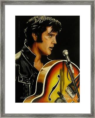 Elvis Presley Framed Print by Betta Artusi
