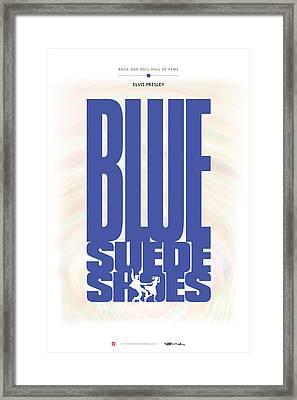 Elvis Presley - Blue Suede Shoes Framed Print