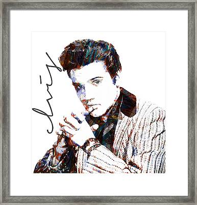 Elvis Presley Framed Print by Celestial Images