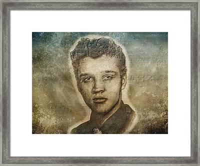 Elvis Presley Framed Print by Dan Sproul