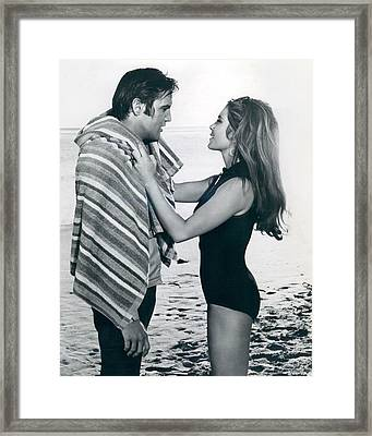 Elvis Presley Getting Dried Off Framed Print by Retro Images Archive