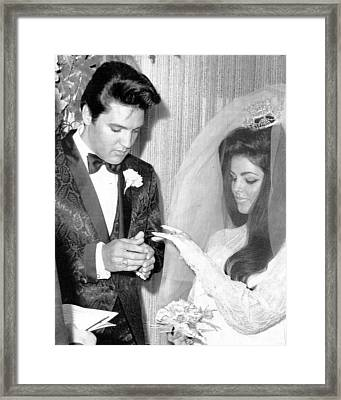Elvis Presley Getting Married Framed Print