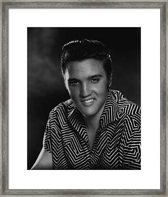 Elvis Presley Head Shot Framed Print by Retro Images Archive
