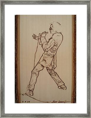 Elvis Presley - If I Can Dream Framed Print by Sean Connolly