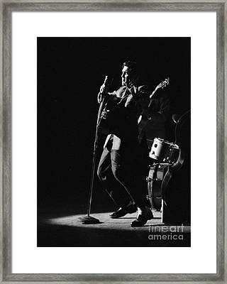 Elvis Presley In Detroit 1956 Framed Print by The Harrington Collection