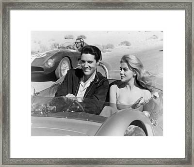 Elvis Presley In Film Framed Print by Retro Images Archive