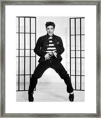 Elvis Presley In Jailhouse Rock 1957 Framed Print