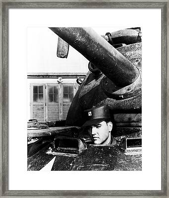 Elvis Presley In Tank Framed Print by Retro Images Archive