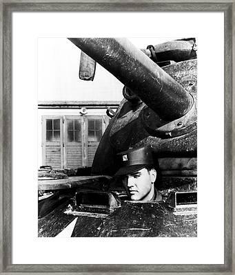Elvis Presley In Tank Framed Print
