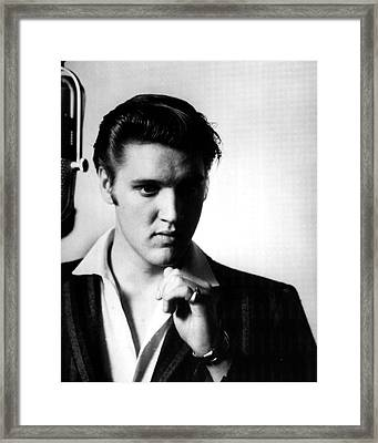 Elvis Presley In The Studio Framed Print by Retro Images Archive