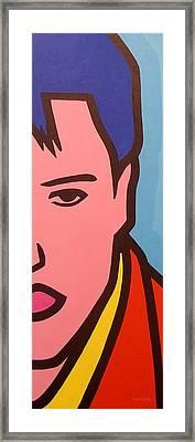 Elvis Presley Framed Print by John  Nolan