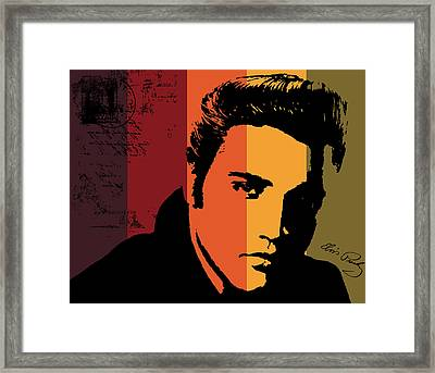 Elvis Presley Framed Print by Kenneth Feliciano