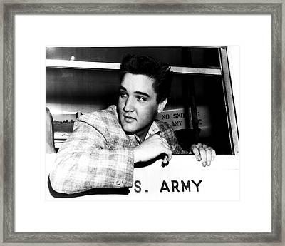 Elvis Presley Framed Print by Retro Images Archive