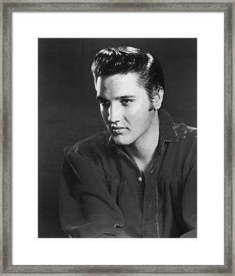 Elvis Presley Looks Into The Distance Framed Print