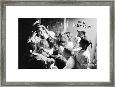 Elvis Presley Mobbed By Adoring Fans 1956 Framed Print by The Harrington Collection