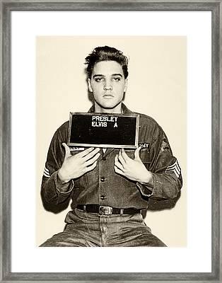 Elvis Presley - Mugshot Framed Print by Bill Cannon