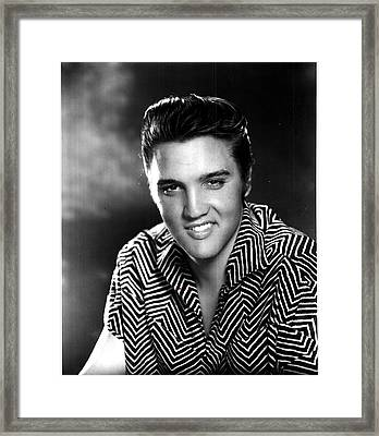 Elvis Presley Framed Print by Georgia Fowler
