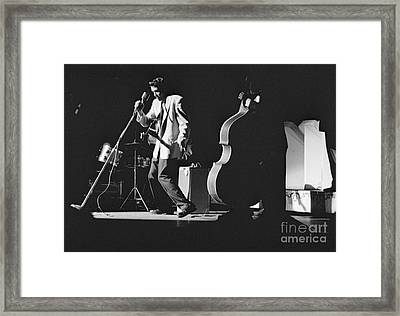 Elvis Presley Performing At The Fox Theater 1956 Framed Print by The Harrington Collection