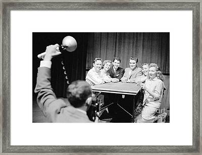 Elvis Presley Photographed With Fans 1956 Framed Print by The Harrington Collection