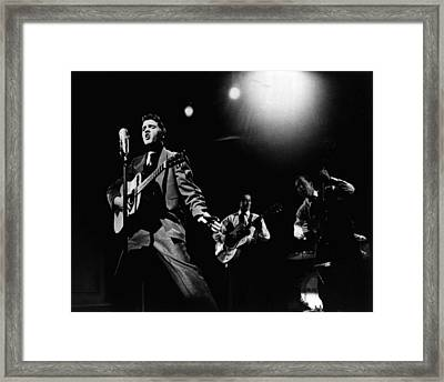 Elvis Presley Playing Hard  Framed Print by Retro Images Archive