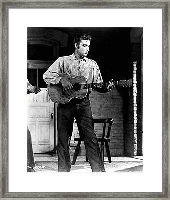 Elvis Presley Playing Outside  Framed Print by Retro Images Archive