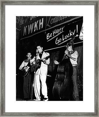 Elvis Presley Playing Radio Event Framed Print by Retro Images Archive