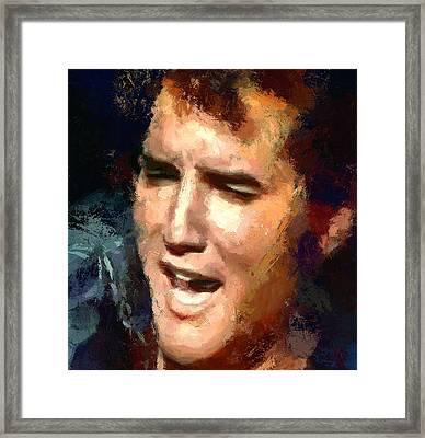 Elvis Presley Portrait 2 Framed Print