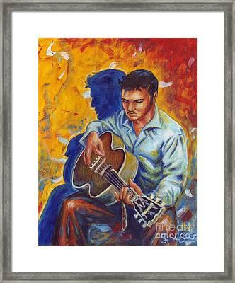 Elvis Presley- Shadow Duet Framed Print